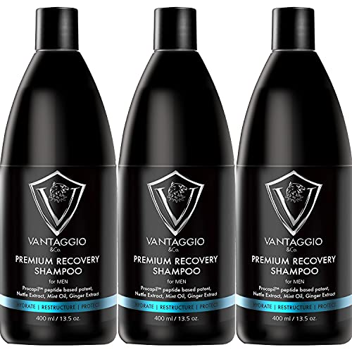Vantaggio - Premium Hair Growth Shampoo THREE PACK – Shampoo for Hair Loss – Boosts Hair Growth and Thickening – Procapil – DHT Blocker fights thinning and Alopecia.