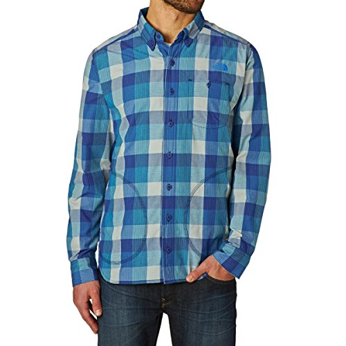 North Face Empennage Chemise Manches Longues Homme, Bomber Blue Plaid, FR : S (Taille Fabricant : S)