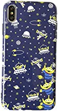 Soft TPU 3 Space Aliens Phone Case for Apple iPhone X XS iPhoneXS Blue Green Color Outer Pixar Disney Toy Story Cartoon Ultra Slim Smooth Cute Lovely Unique Cool Fun Gift Kids Boys Son Men Daughter