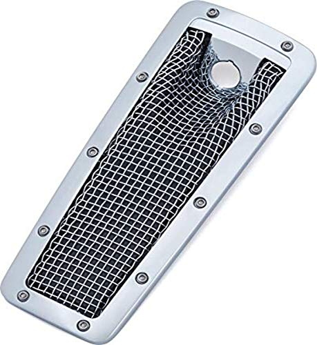 Kuryakyn 6507 Motorcycle Accent Accessory: Mesh Dash Insert for 2008-19 Harley-Davidson Ultra, Limited, Tri Glide Motorcycles, Chrome