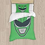 Go Go Green Ranger Bedding Set Comforter Cover Colorful Duvet Cover for Women Kids Girls Bedroom Bright Printed Quilt Cover Art Home Decor, Twin Twin 39x75inch