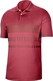 Dri-Fit Vapor Polo Stripe Golf Shirt - Sierra Red
