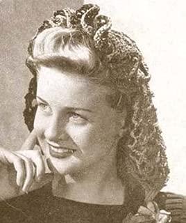 Frilly Snood Crochet Pattern Hat Hair Net Hairnet