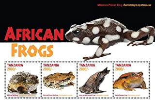 2015 African Frogs - Collectible Sheet of 4 Stamps, Mint Never Hinged
