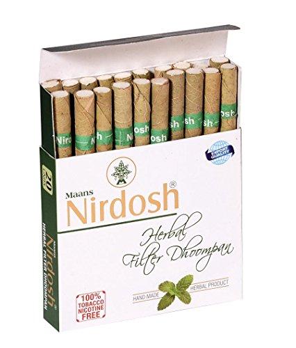 Nirdosh Herbal Cigarettes - Export Quality (3 Packs / 60 Cigarettes) Tobacco & Nicotine Free Dhoompan / Ecstasy & Honeyrose Alternative
