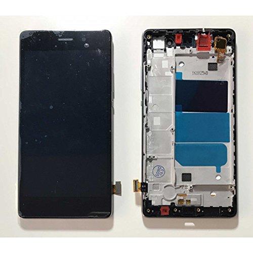 HOUSEPC Pantalla Táctil De Cristal Negro + LCD Display + Marco para Huawei Ascend P8 Lite Ale-l21