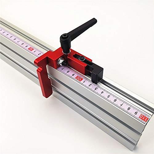 lifBetter 75 mm de altura con T-Tracks Stop Miter Gauge Sierra de mesa Perfil de aluminio 75 mm de altura T-Tracks Tapón Herramienta de trabajo de madera