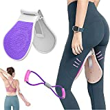 Multi-Functional Pelvic Floor Muscle Trainer,Home Fitness Equipment for Women,Kegel Exercises Training Device,Free 8-Character Tension Band,Exercise Chest,Arms,Buttocks and Beautify Legs (Purple)