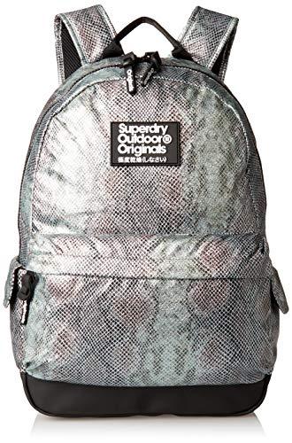 Superdry Damen Glitter Scale Montana Backpack Rucksack, blau, Einheitsgröße