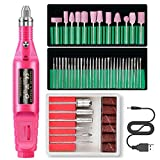 LomsarshManicure elettrico 50 in 1, levigatrice per unghie, kit per manicure elettrico per smalto per unghie Kit per pedicure per limatrice, lima per unghie con kit per manicure
