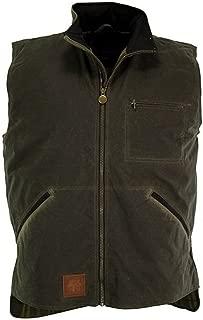 Outback Trading Co Men's Co. Sawbuck Flannel Lined Oilskin Vest - 2143Sage