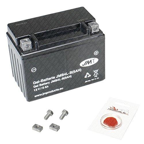 Gel-Batterie für Vespa LX 50 (2-Takt), 2005-2014 (Typ C38101), wartungsfrei, 5 Ah, inkl. Pfand €7,50