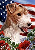 Wire Fox terrier house flag