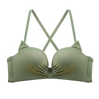 2988e2c0d QYYDNY Conjunto de Bragas de Sujetador sin Costuras para Mujer Push Up  Bralette Bragas Conjunto de