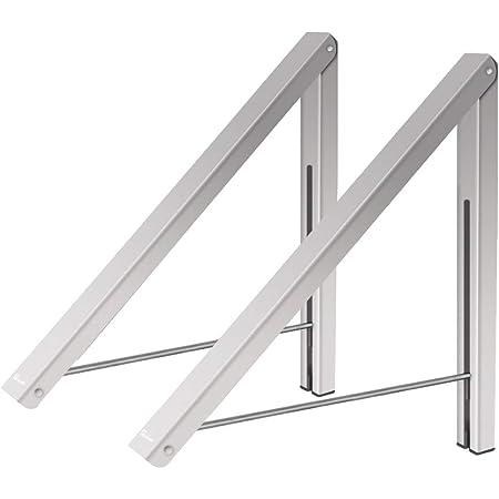 Anjuer portemanteaux cintres Pliables Support Mural en Aluminium Stockage à la Maison Rangement de l'espace économiseurs 2 Packs