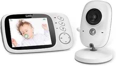 GHB Vigilabebés Inalambrico Bebé Monitor Inteligente con LCD 3.2
