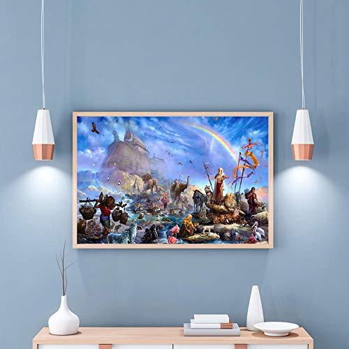 Preisvergleich Produktbild WSKPE DIY Ölgemäldeset,  digitales Malkit für Erwachsene,  modernes Gemälde von Wandkünstlerhaus,  40 * 50cm