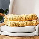 Asffdhley Decke werfen Verdicken Sie Bettwäsche Zopfmuster Decke for Couch Stühle Bett Strand 130cmx160cm für die ganze Saison (Color : Yellow, Size : 130cmx160cm)