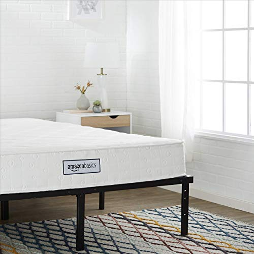 AmazonBasics Pocket Coil Mattress - Features High-Density Foam Layer, Reversible, Easy Set-Up, CertiPUR-US certified, 8-Inch, Full