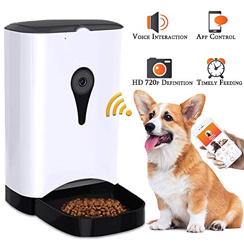 Feastoria Automatic Pet Feeder with HD Camera and 4 Meals Programmable...