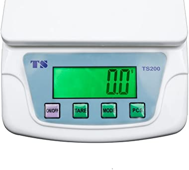 Leiking Digital Kitchen Scale Multifunction Food Scale 10kg 0.0176oz/0.5g Cooking Scale with LCD Display, Tare & PCS Func