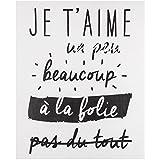 Promobo - Planche Stickers Citation Amour Je t'aime Un Peu A La Folie