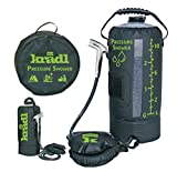 Kradl Pressure Shower - Portable Shower for Camping / 2.9 Gallon Solar Camping Shower Bag with Foot Pump and Sprayer/Solar Camp Shower Kit