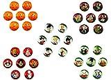 Canicas DragonBall Z. Colección completa de 35 bolas de cristal de...
