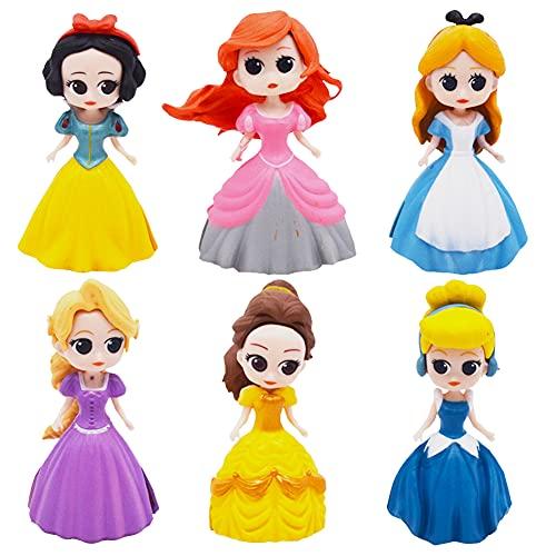 Hilloly Decoración para Tarta Princesa 6 pcs Princesa Cake Topper Mini Juego...