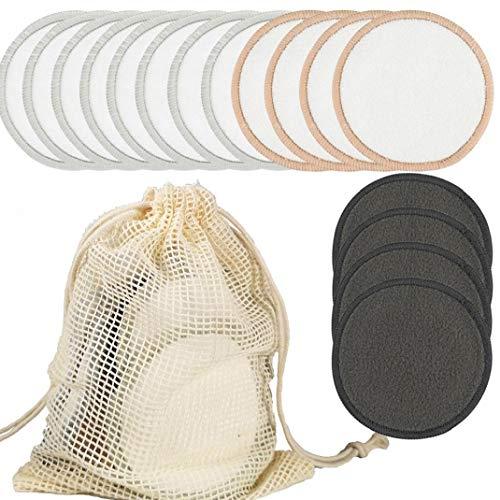 lujiaoshout Almohadillas de algodón, Cojines de bambú del Maquillaje removedor de Maquillaje de la Esponja de algodón Hoja de Barrido para el Maquillaje de Belleza