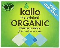 Kallo Organic Very Low Salt Vegetable Stock Cubes (6x10g) Kallo有機非常に低い塩野菜ストックキューブを( 6X10G )