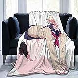 UNiiyi Anime My Hero Academia Himiko Toga Manta Manta de Lana Impresa en 3D Manta de Franela Ligera para sofás Cama Decoración del hogar Manta de Aire Acondicionado