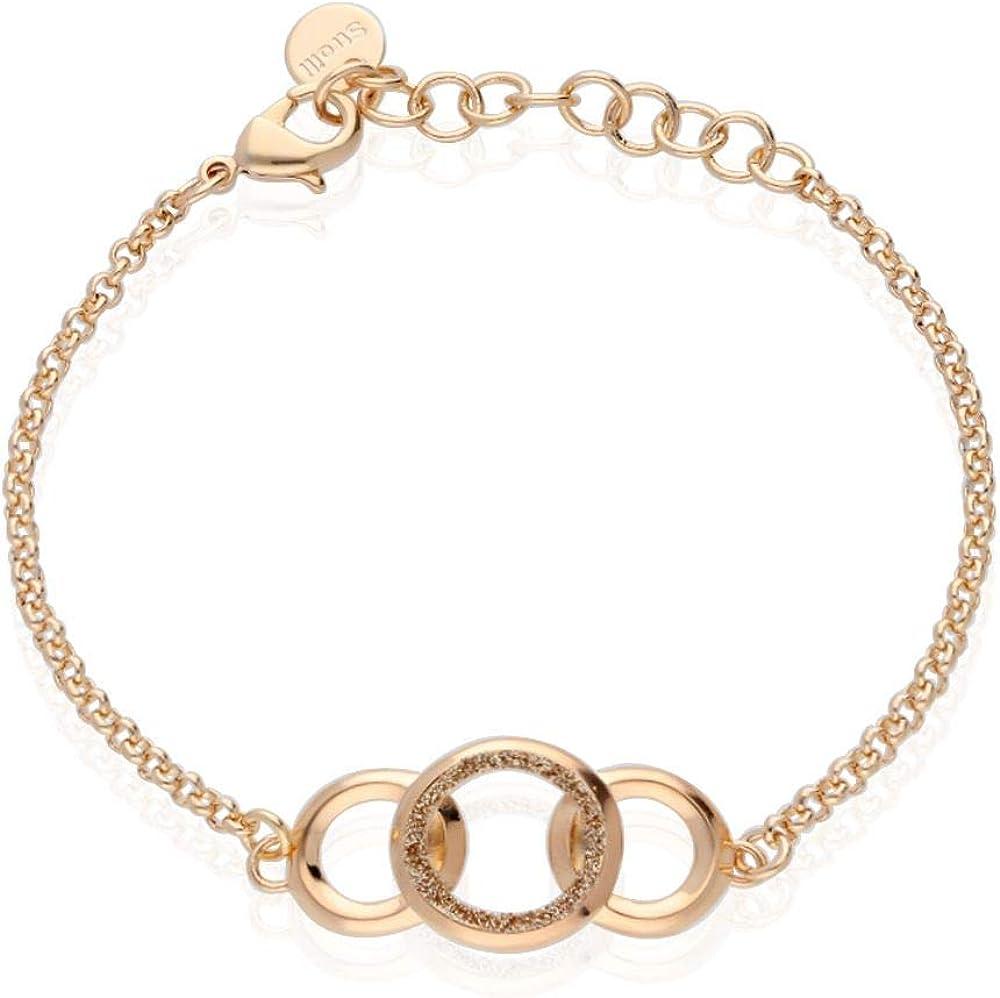 Stroili bracciale per donna in ottone bronzato e glitter bronzo 1666005