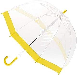 Clifton Umbrellas Kids' Yellow Trim Birdcage Umbrella, PVC, Kid Friendly, Yellow