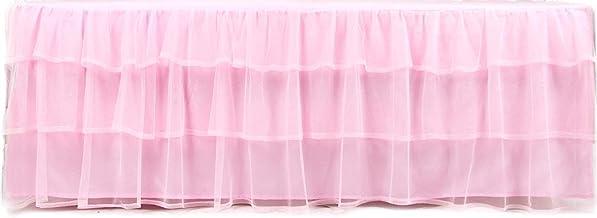 Tadpoles Triple Layer Tulle Bed Skirt, Pink, Full