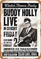 白い桜雑貨屋 看板 コカ 通販 レトロ ブリキ Buddy Holly's Last Show 壁飾 アンティーク メタル レトロ 看板 販売(20x30cm)