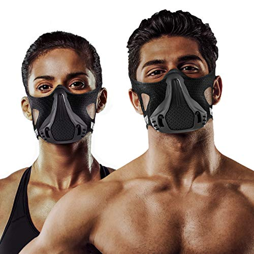 Training Mask | 25 Levels Workout High Altitude Elevation Simulation Sport Oxygen Air Women Men for Gym Cardio Fitness Running Endurance Resistance HIIT M