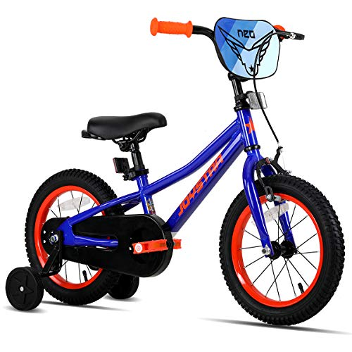 JOYSTAR 12 Inch Kids Bikes with Training Wheels for 2 3 4 Years Old Boys 12' Toddlers Cycle for Early Rider Child Pedal MTB Bike Blue