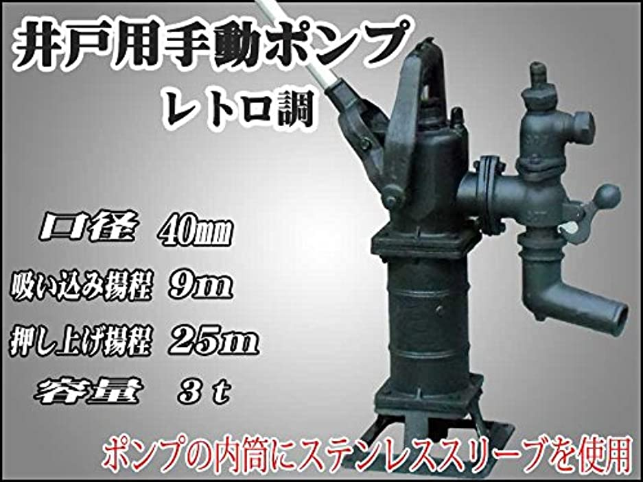 愛情深いあらゆる種類の格納手動井戸用手押し ポンプ押し上げ揚程25m