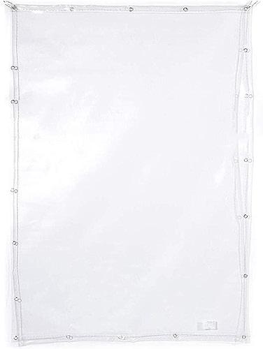Couverture de bache en verre souple imperméable transparente résistante de PVC avec des perforations idéale for des tableaux, des toits, des piscines, des camions et des feuilles de camping extérieure