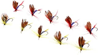 Perfeclan 10pcs Fly Fishing Flies Trout Baits Butterfly Nymph Emergers Flies Fly Hooks