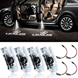 LED Car Door Logo Light Courtesy Projector Laser Welcome Lights Ghost Shadow Light Accessories Compatible with RX/ES/GX/LS/LX/IS Series (4 Pack)