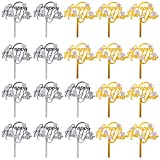 BESTOYARD 10pcs Happy New Year Cake Topper Acrylic Snowflake Cupcake Picks Decorative Food Fruit...