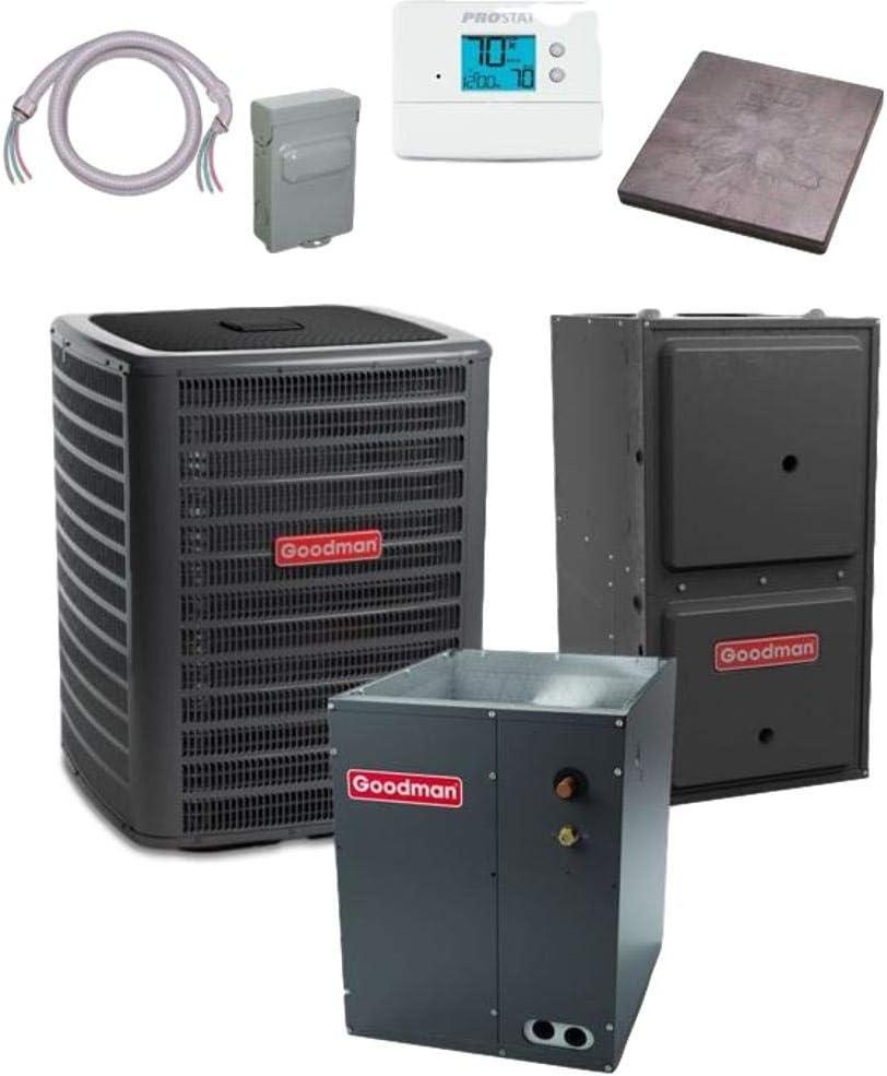Goodman New mail order 3 TON 17 SEER bundle wholesale Air GSXC180361 Conditioner CAPF313