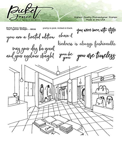 Picket Fence Studios Your Eyeliner Straight Clear Stamps