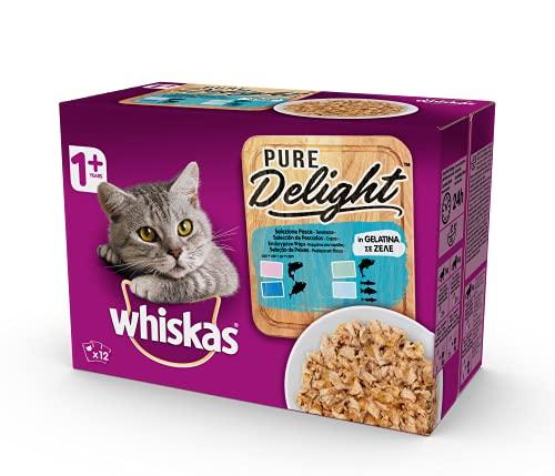 Whiskas Casserole Comida Húmeda para Gatos Adultos Selección Pescados, Multipack (4 cajas x 12 sobres x 85g) ✅