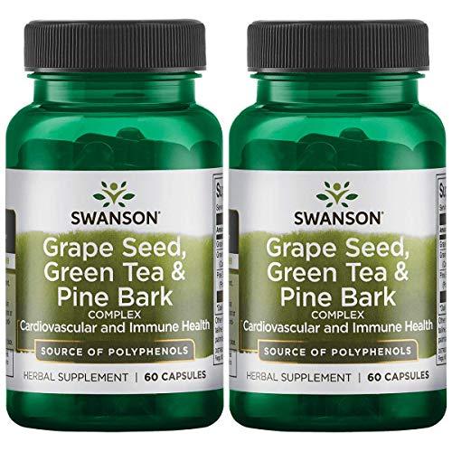 Swanson Grape Seed, Green Tea & Pine Bark Complex, 60 caps