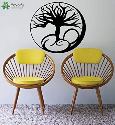 zqyjhkou Baum des Lebens Wandaufkleber Wohnzimmer Wurzeln Muster Kreative Modernes Design Vinyl Wandaufkleber Für Kinderzimmer Wasserdicht DIY64x58cm