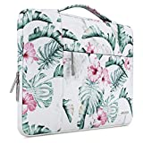 MOSISO Laptop Sleeve Compatible with 13-13.3 inch MacBook Air, MacBook Pro, Notebook Computer, Polyester Multifunctional Briefcase Handbag Carrying Case Cover Bag, Banana Leaf