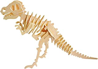 ROBUD Build Your Own 3D Wooden Assembly Puzzle,Dinosaur Wood Craft Kit,Dinosaur Model Toy,Gifts for Kids and Adults(T-Rex)